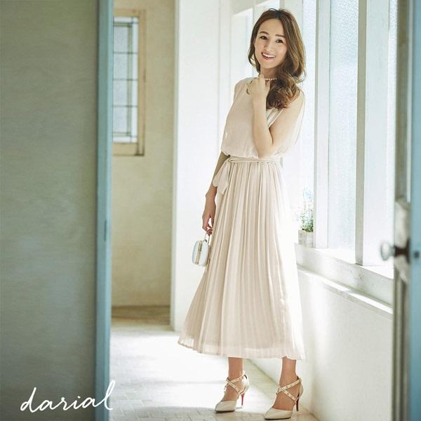darial(ダリアル) シフォンプリーツワンピドレス