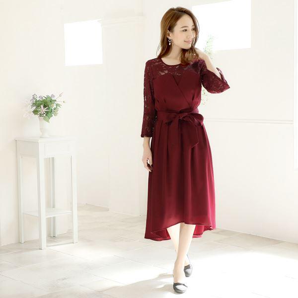 19b5602350717 レースベルスリーブテールミモレ丈ドレス  2BUY3BUY対象ドレス  · この商品に関する問い合わせ